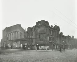 Bomb damaged Hippodrome in East India Dock Road
