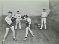 Boxing class at Bethnal Green Men's Institute
