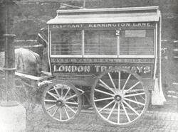 A horse-drawn tramway