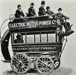Early experimental motor bus of the Electric Motive Power Company Ltd