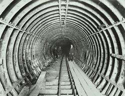 Construction work takes place on the Bakerloo Line, London Underground, tube