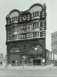 Elephant and Castle Underground Station: exterior on 75 London Road, tube