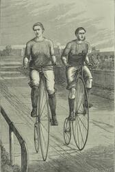 Cycle race at Lillie Bridge Grounds