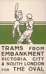 """The Oval, Trams From Embankment, Victoria, City And South London"""